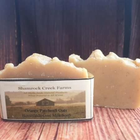 Orange Patchouli Oats Goat Milk Soap