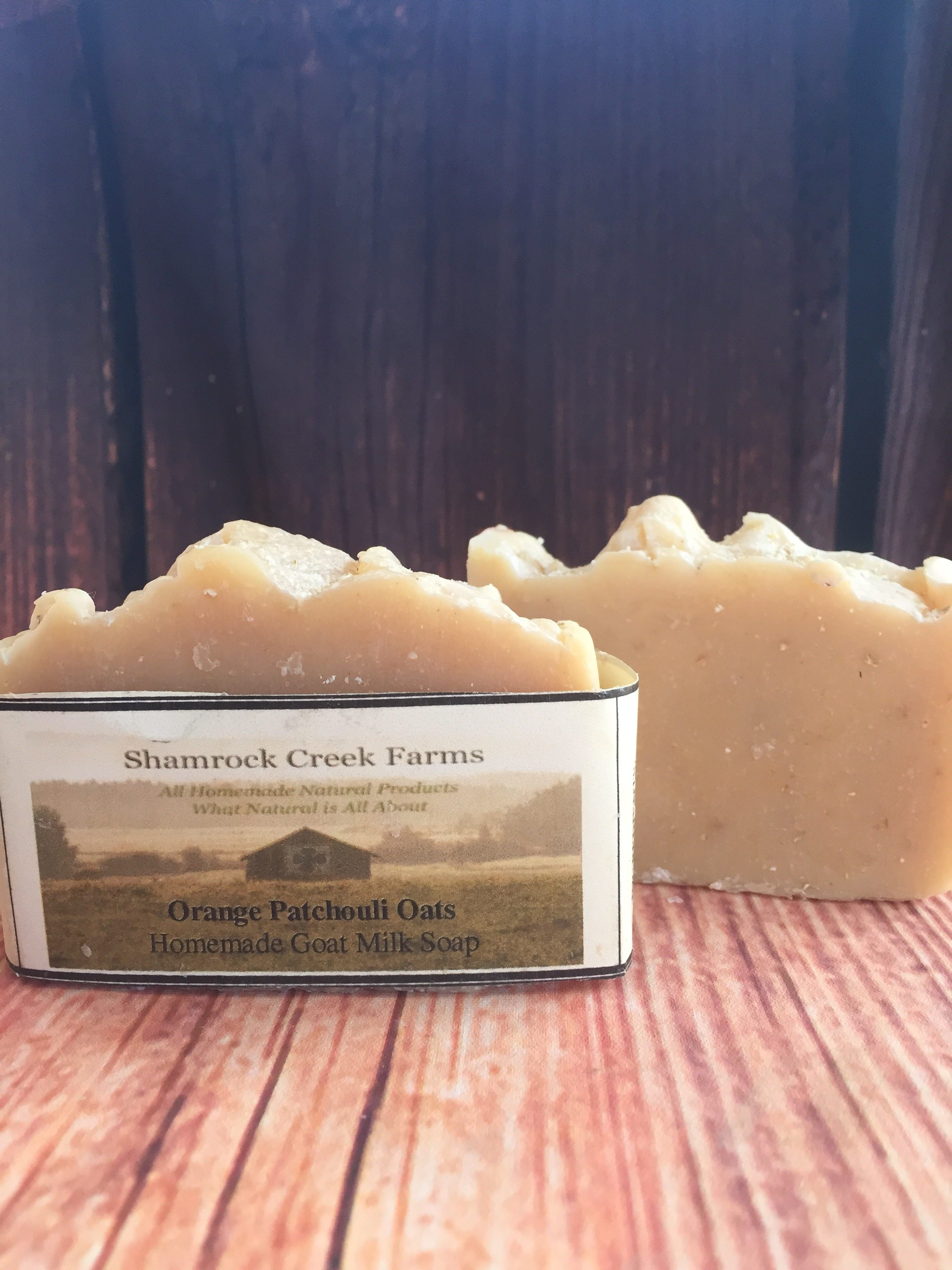 Orange Patchouli Goat Milk Soap