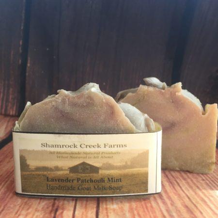 Lavender Patchouli Mint Goat Milk Soap